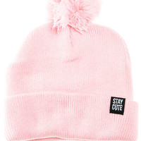 The Everyday Pom Beanie in Pink