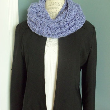 Lavender Colored Infinity Scarf or Cowl