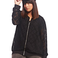 Lace Bomber Jacket | Wet Seal+