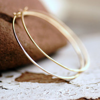 Gold Hoop Earrings, Gold Hoops, Hammered Hoops, Simple Hoops, Gold Earrings, Gold Jewelry, Everyday Hoops, 14k Goldfill - Little Black Dres