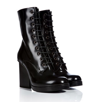 Jil Sander - Patent Leather Lace-Up Boots