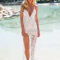 JASMINE LACE MAXI DRESS , DRESSES, TOPS, BOTTOMS, JACKETS & JUMPERS, ACCESSORIES, SALE NOTHING OVER $25, PRE ORDER, NEW ARRIVALS, PLAYSUIT, GIFT VOUCHER,,MAXIS,White Australia, Queensland, Brisbane