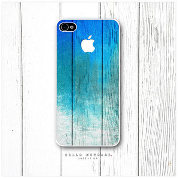 iPhone 4 and 4S case Pealing Teal Paint and Logo