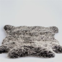 Faux Fur Hide Shaped Dog Bed Large > The Life of Ryley