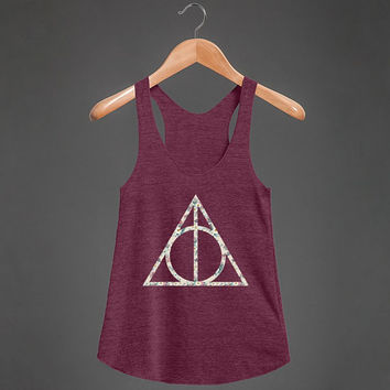 Floral Hallows | Racerback Tank Top | Harry Potter Shirts
