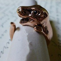 Rose Gold Dinosaur Ring 7-8