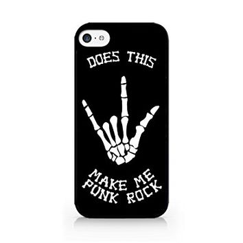 Does This Make Me Punk Rock - Skeleton - iPhone 5C Black Case