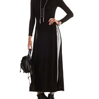 LONG SLEEVE SIDE SLIT MAXI TEE