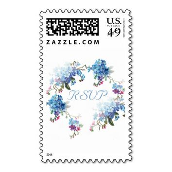 RSVP Vintage Blue Wreath Floral Stamp
