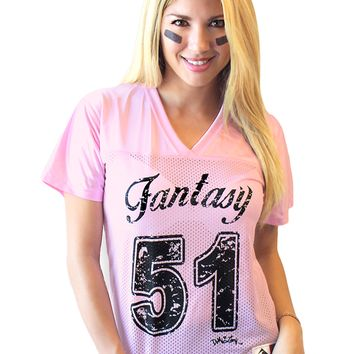 "Women's ""Fantasy Football"" Jersey by Demi Loon (Pink)"