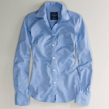 AEO Women's Oxford Favorite Shirt