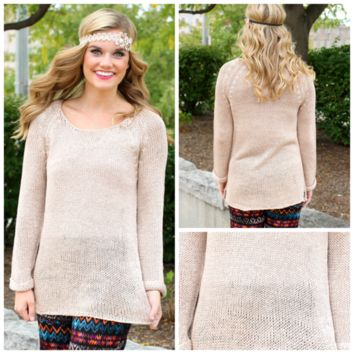 Autumn Spice Sweater - Taupe