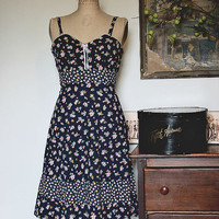 Prairie Gals Vintage Boho Floral Sundress Dress Size S