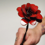 Red Rose Industrial Home Metal Flower Rustic Decor Barbed Wire Stem Rustic 3d Floral Decor