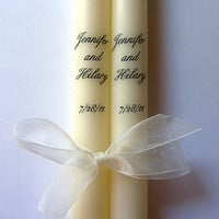 Custom Taper Candles with Names or Initials