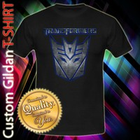Transformers DECEPTICON Megatron Robot Autobot Movie Logo Mask Custom Black T-Shirt Size S-XXL