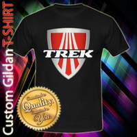 Trek Bicycle Bikes Sport Logo Custom Black T-Shirt Size S-2XL