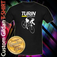 Turin Bicycle Bikes Logo Custom Black T-Shirt Size S-2XL