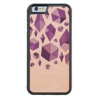 Purple geometric jewel shapes