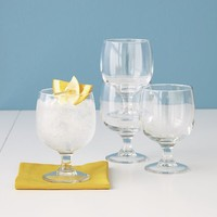 Set of twelve eddy everyday stacking glasses. 11 oz.