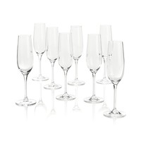 Set of eight Viv Sparkling Wine Glasses. 9 oz.