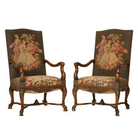 1STDIBS.COM - Antiques on Old Plank Road - Magnificent Pair of Antique French Rococo Throne Chairs