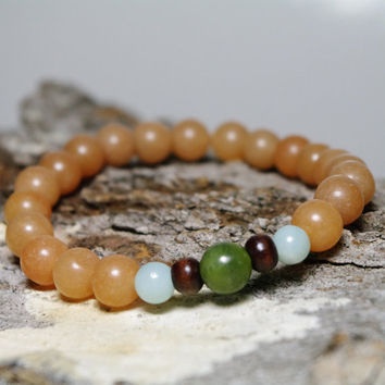 Creativity and Ability Meditation Bracelet - Beaded Handmade Bracelet