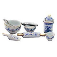 10-Pc. Blue and White Baking Set @ miniatures.com