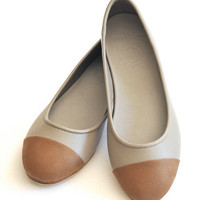 ANN. leather shoes. Leather ballet flats. sizes 35-43. Available in different leather colors.