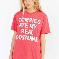 Zombies Ate My Costume Tee - Urban Outfitters