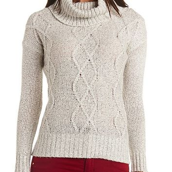 MARLED CABLE KNIT TURTLENECK SWEATER