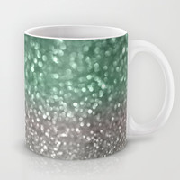Mint and Gray Mug by Lisa Argyropoulos