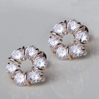 Rhinestone Garland Earrings