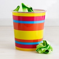 Frisco Stripe Waste Can