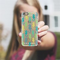 Seahorses (Sea Green) Transparent iPhone 6 case by Lisa Argyropoulos | Casetify