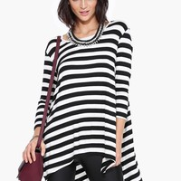 Fall Stripe Tunic Top