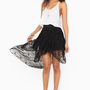 Lace Tail Skirt - Black