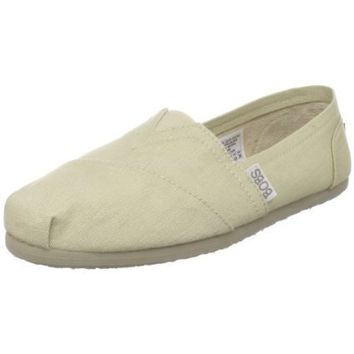 Skechers Women`s Bobs-Earth Day Slip-On Flat,Natural,8 M US