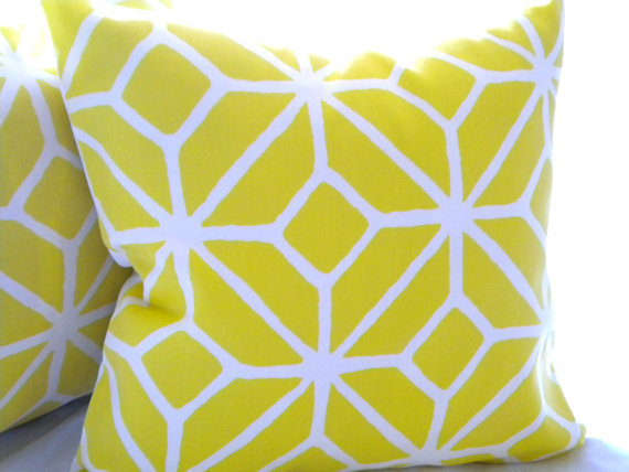 Trina Turk Trellis pillow cover Print Citron 20 x 20