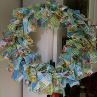 Fabric Wreath Perfect For Nursery Or Baby Shower