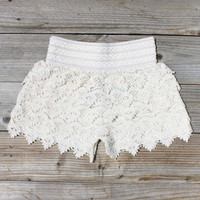Easy Rider Shorts in Ivory, Women's Sweet Country Clothing
