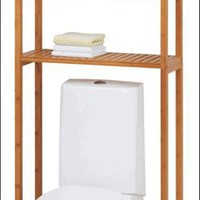 Lohas Bamboo Over the Toilet Shelf Space Saver