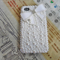 Fashion Pearl iphone hard Case Cover For Apple iPhone 4,4S ,iPhone 4 Case, iPhone 4 S Case, iPhone 4 G S Case  -093