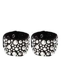 Limited Edition Pair of Studded Leather Cuff at asos.com