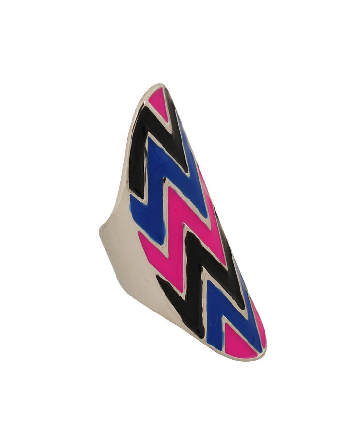 Chevron Stripe Knuckle Ring