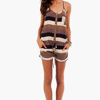 Squared and Striped Romper ~ TOBI