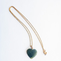 Virgin Teeth | GREEN HEART NECKL❤CE  | Online Store Powered by Storenvy