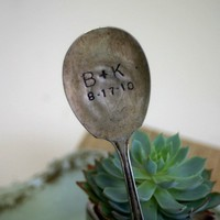 True Love Vintage Silverware Garden Marker by monkeysalwayslook