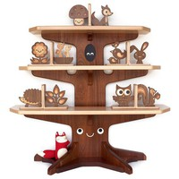 Woodland Happy Tree Bookshelf with 4 Free by graphicspaceswood