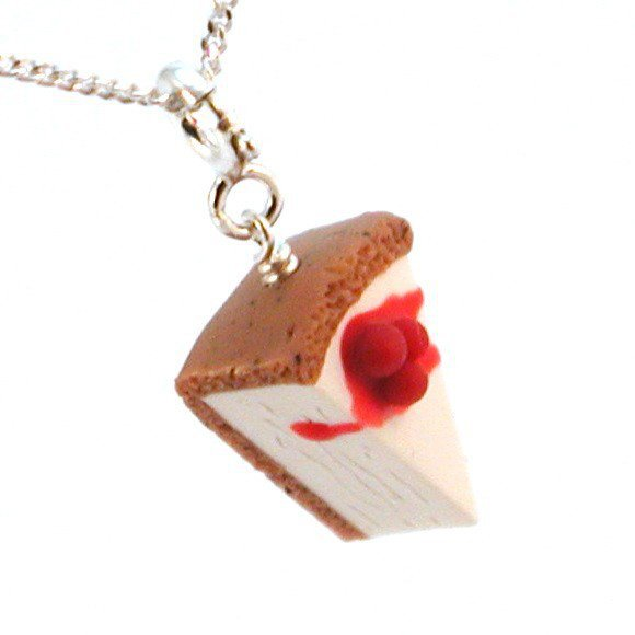 Cherry Cheesecake Necklace - Whimsical &amp; Unique Gift Ideas for the Coolest Gift Givers